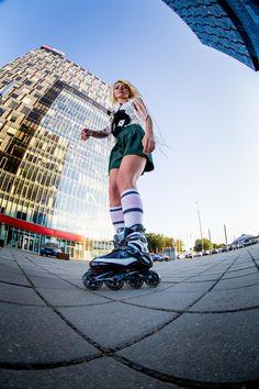Skating in Bucharest - skate girl, rollerblading, inline skates, Fila Skates, Fila Primo Air Wave.