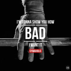 I'm gonna show you how BAD I want it! Hands on the barbell, ready to kill my workout.