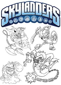 Skylanders SuperChargers coloring pages Dive Clops Calebs 8th