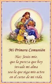 Resultado de imagen para oraciones para primera comunion catolica para compartir con la familia