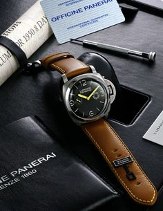 Panerai Luminor 8 Day Angelus Movement Special Edition 47mm Pam 203 | Subsidiary Seconds | Manually-Wound Calibre Angelus SF 240 - Brown Dial - Stainless Steel on Leather Strap | LE150