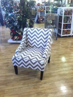 Grey Chevron Chair !