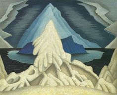 Lawren Harris Winter Comes from the Arctic to the Temperate Zone, c. 1935 Group of Seven Group Of Seven Artists, Group Of Seven Paintings, Canadian Painters, Canadian Artists, Franklin Carmichael, Art Nouveau, Tom Thomson, Art Database, Contemporary Landscape