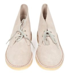 CLARKS  DESERT BOOT  SAND SUEDE  Inspired by the boots worn by the British officers in WWII, these have been a cult classic since the 1950s. These are a little more casual in a lighter suede. We love them.  English suede  natural plantation crepe sole  import