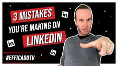 Three mistakes that people often make on LinkedIn. What about you? Do you see other mistakes that I should add? #youtuber #video #youtubers #linkinbio #entrepreneur #marketing #youtube #linkedin #socialmediastrategy Mistakes, Youtubers, Entrepreneur, Social Media, Ads, Marketing, People, How To Make, Social Networks