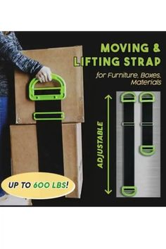 The Moving & Lifting Straps is a single or two-person lifting device that is adjustable and functional to carry variety of objects around the home, yard, or workplace. Simple Life Hacks, Useful Life Hacks, Cool Tools, Diy Tools, Lifting Straps, Must Have Gadgets, Moving Tips, Gadgets And Gizmos, Cool Inventions