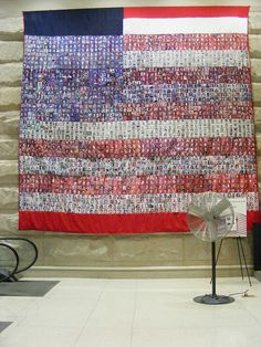 Quilt with Every 9-11 Victim's Picture at Entrance to the Pentagon