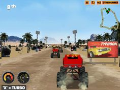 Get on your monster truck and beat your rivals up. Play Monster Truck Fever and be a legend in the monster truck racing series! Monster Truck Racing, Monster Trucks, Truck Games, You Monster, Play, Vehicles, Car, Vehicle, Tools