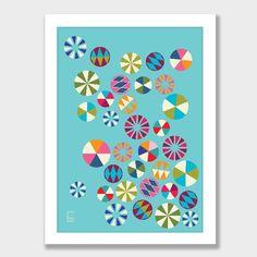 Tivolivat Round Art Print by Swiden