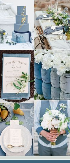 the best dusty blue wedding color ideas