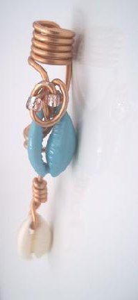 Cowrie shell locs jewelry by FashionbellaJewelry on Etsy, $16.00