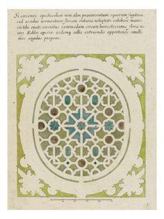 Modèle de parterre de jardin oval. Art.fr - Musée national de la Renaissance (Ecouen) (RMN) - tableaux et affiches pour amoureux d'art