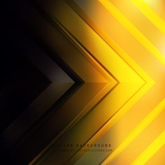 Abstract Black Yellow Arrow Background