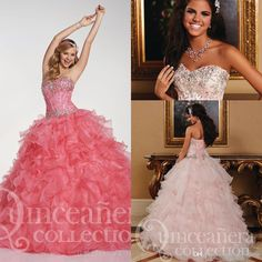 Wholesale Elegant Ball Gown Sweetheart Sweep Train Ruffles Organza Quinceanera Dresses Most Popular Quinceanera Gowns Free Shipping Prom Dresses, Free shipping, $132.95/Piece | DHgate Mobile