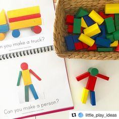 Use our FREE printable block play challenge cards to encourage and extend the construction play in your setting, bring STEAM to your block play in the classroom or home. Nursery Activities, Preschool Activities, Toddler Preschool, Home Corner Ideas Early Years, Construction Area Early Years, Block Center Preschool, Montessori, Ec 3, Early Childhood Activities