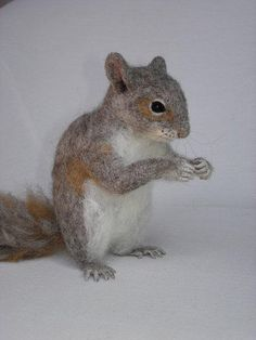 Felt Animals - Needle Felted Squirrel Miniature