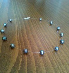 Elegant black tahiti pearls necklace. #handmade #jewelry #love #necklace #tahitipearl #tirana