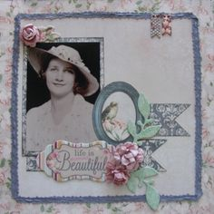 Life is Beautiful page created with Madeleine collection for BoBunny Club Kits. Visit www.myscrappinshop.com.au to find out more. #BoBunny