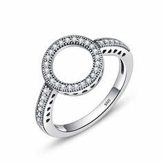 925 Silver Ring Zirconia Circle ARISTOCRATIC Jewelry Gifts, Jewelry Accessories, Women Jewelry, Fashion Jewelry, Handmade Jewellery, Fashion Fashion, Fashion Accessories, Fashion Rings, Halo