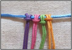 Learn how to do micro macrame - http://www.demure-designs.com/tips-techniques/basic-micro-macrame-knots/larks-head-knot/