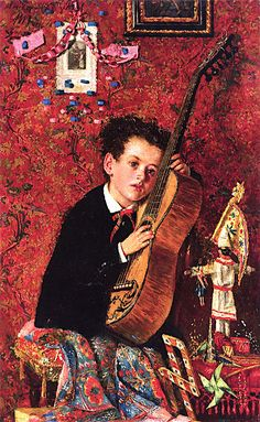 Antonio Mancini - Boy with Guitar