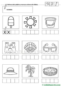 Ficha 3-Contar sílabas Cats Cast, Preschool Writing, Classroom Rules, Alphabet Activities, Color Mixing, Art For Kids, Worksheets, Coloring Pages, How To Plan