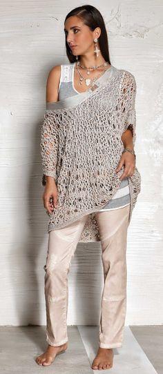 Lorem ipsum dolor sit amet, consectetur adipiscing elit, sed do eiusmod tempor incididunt ut labore et dolore magna aliqua. Knitwear Fashion, Knit Fashion, Boho Fashion, Womens Fashion, Fashion Design, Boho Outfits, Fashion Outfits, Hippie Stil, Elisa Cavaletti