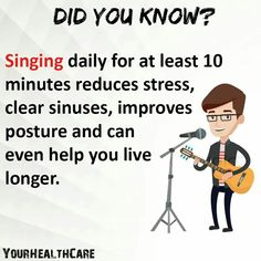 Fine tune those pipes people and sing your little hearts out Wow Facts, Real Facts, Wtf Fun Facts, Funny Facts, Crazy Facts, How To Clear Sinuses, Unbelievable Facts, Amazing Facts, Psychology Fun Facts