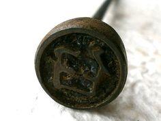 Vintage Japanese Yakiin Branding Iron mortar by VintageFromJapan