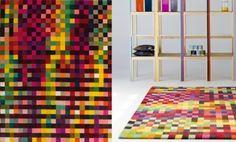 pixel kunst door Christian Zuzunaga en tapijt door Gerhard Richter