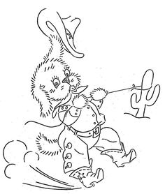 Hand Embroidery Pattern 3405 Cowboy Puppies Dogs by BlondiesSpot, $3.99
