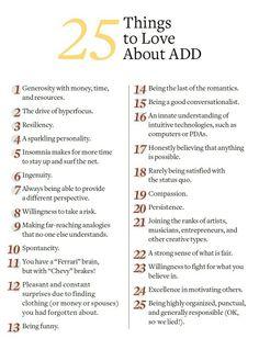 Be proud of having ADHD