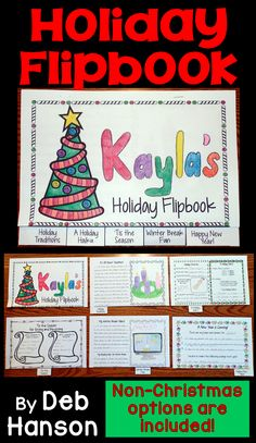 """This is a """"print and go"""" packet that can be used in the month of December as students are eagerly anticipating the holidays and/or the upcoming break from school!  This flipbook contains alternate versions for students who do not celebrate Christmas."""