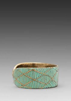 DREAM COLLECTIVE Rio Wide Cuff in Turquoise - Bracelets & Cuffs
