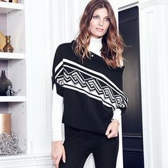 This mini poncho sweater is the perfect mix of casual and polished. #WHBM #seasonofstyle