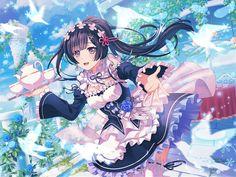 Bandori x Re:Zero collab Rinko's Trained Card Art Art Anime Fille, Anime Girl Neko, Anime Art Girl, Kawaii Anime, Anime Girls, Anime Background Wallpaper, Go Wallpaper, Pretty Anime Girl, Beautiful Anime Girl