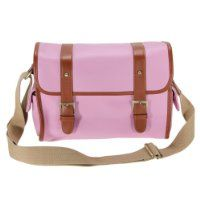 Love the color and how light it looks!  MECO Pink PU Leather DSLR Camera Messenger Shoulder Bag Case for Canon Nikon Sony Olympus