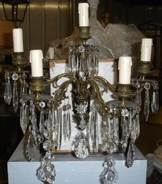 Bronze and Crystal sconces - 5 arms
