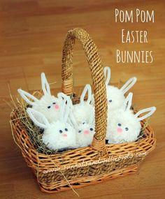 Sun Hats & Wellie Boots: Pom Pom Spring Easter Bunnies