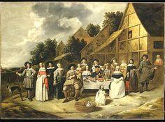Gillis van Tilborgh (Flemish, ca. 1625–ca. 1678). Group Portrait: A Wedding Celebration. The Metropolitan Museum of Art, New York. Purchase, 1871 (71.32)