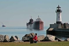 Canal Park in Duluth is only minutes from campus and provides plenty of sightseeing and people watching opportunities