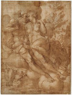 Attributed to Francesco Salviati (Francesco de' Rossi)  (Italian, Florence 1510–1563 Rome)  Jupiter and Io (recto);  sketch of a male figure stabbing himself in the chest (verso) mid-16th century  © The Metropolitan Museum of ArtКаждый выбирает для себя. oddmuse