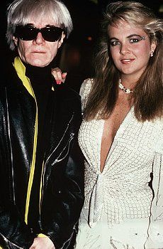 "Andy Warhol with ""Deb of the Decade"" Cornelia Guest in the 80's"