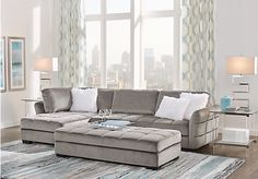 picture of Largo Drive Gray 3 Pc Sectional Living Room from Living Room Sets Furniture