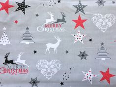 Christmas Fabric, Reindeer, Merry Christmas, Fabrics, Kids Rugs, Etsy Shop, Group, Business, Unique Jewelry
