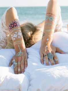 Flash tattoos.