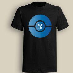 Team Mystic Poke Ball Black T shirt, T shirt for Men, Women, Girl, Boy, XS, S, M, L, XL, XXL, 3XL,  Size, Customized
