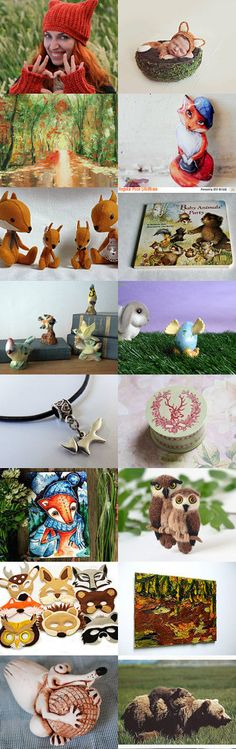 Deep In The Forest The Fox Is Not Alone by Susan on Etsy--Pinned with TreasuryPin.com