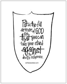 ARMOR OF GOD CRAFTS | Armor of God- Bible Boot Camp Crafts