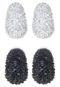 2 PACK - Earrings - silver